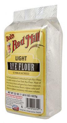 Bobs Red Mill Un Bleached Light Rye Flour 22 Ounce Bag