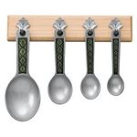 Leaf / Green with Maple Pewter Measuring Spoons