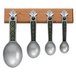 Leaf / Green with Cherry Pewter Measuring Spoons
