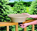 14 in. Non-Heated Bird Bath Deck/Pole