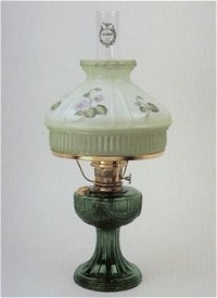 Aladdin lamps emerald green short lincoln drape table lamp with aladdin lamps emerald green short lincoln drape table lamp with violets shade c6198 667 mozeypictures Choice Image