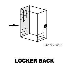 BACK-FOR STORAGE LOCKER-36 INCHES WIDE-90 INCHES HIGH
