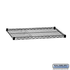 ADDITIONAL SHELF-FOR WIRE SHELVING-36 INCHES WIDE-24 INCHES DEEP-BLACK