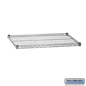 ADDITIONAL SHELF-FOR WIRE SHELVING-36 INCHES WIDE-24 INCHES DEEP-CHROME