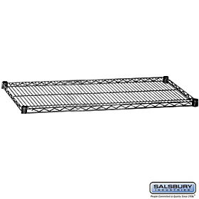 ADDITIONAL SHELF-FOR WIRE SHELVING-48 INCHES WIDE-24 INCHES DEEP-BLACK