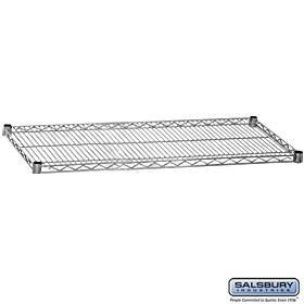 ADDITIONAL SHELF-FOR WIRE SHELVING-48 INCHES WIDE-24 INCHES DEEP-CHROME