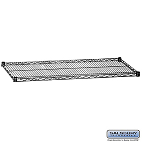 ADDITIONAL SHELF-FOR WIRE SHELVING-60 INCHES WIDE-24 INCHES DEEP-BLACK