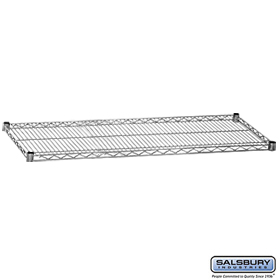 ADDITIONAL SHELF-FOR WIRE SHELVING-60 INCHES WIDE-24 INCHES DEEP-CHROME