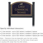 COMMERCIAL SIGN-ARCHED-BLACK POST-BLACK SIGN-GOLD CHARACTERS-DAISY-1 SIDED