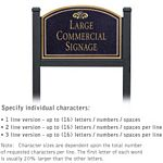 COMMERCIAL SIGN-ARCHED-BLACK POST-BLACK SIGN-GOLD CHARACTERS-FOUNTAIN-1 SIDED