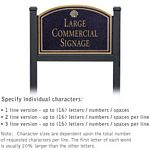 COMMERCIAL SIGN-ARCHED-BLACK POST-BLACK SIGN-GOLD CHARACTERS-SHELL-1 SIDED