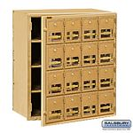 16 DOOR BRASS MAILBOX-FRONT LOADING