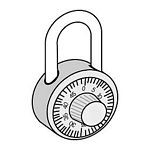 COMBINATION-PADLOCK-FOR EXTRA WIDE DESIGNER LOCKER