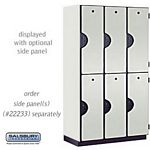 DOUBLE TIER EXTRA WIDE DESIGNER LOCKER-3 WIDE-6 FEET HIGH-18 INCHES DEEP-GRAY