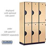 DOUBLE TIER EXTRA WIDE DESIGNER LOCKER-3 WIDE-6 FEET HIGH-18 INCHES DEEP-MAPLE
