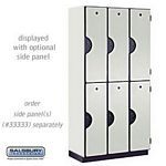 DOUBLE TIER DESIGNER LOCKER-3 WIDE-6 FEET HIGH-18 INCHES DEEP-GRAY