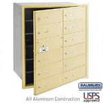 12 DOOR (11 USABLE) 4B+ HORIZONTAL MAILBOX-SANDSTONE-FRONT LOADING-B DOORS-USPS ACCESS