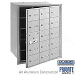 15 DOOR (14 USABLE) 4B+ HORIZONTAL MAILBOX-ALUMINUM-FRONT LOADING-A DOORS-PRIVATE ACCESS