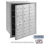 15 DOOR (14 USABLE) 4B+ HORIZONTAL MAILBOX-ALUMINUM-FRONT LOADING-A DOORS-USPS ACCESS