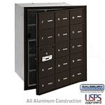 15 DOOR (14 USABLE) 4B+ HORIZONTAL MAILBOX-BRONZE-FRONT LOADING-A DOORS-USPS ACCESS