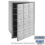 18 DOOR (17 USABLE) 4B+ HORIZONTAL MAILBOX-ALUMINUM-FRONT LOADING-A DOORS-PRIVATE ACCESS