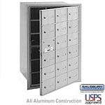18 DOOR (17 USABLE) 4B+ HORIZONTAL MAILBOX-ALUMINUM-FRONT LOADING-A DOORS-USPS ACCESS