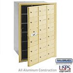 18 DOOR (17 USABLE) 4B+ HORIZONTAL MAILBOX-SANDSTONE-FRONT LOADING-A DOORS-USPS ACCESS