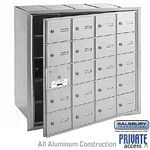 20 DOOR (19 USABLE) 4B+ HORIZONTAL MAILBOX-ALUMINUM-FRONT LOADING-A DOORS-PRIVATE ACCESS