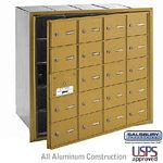 20 DOOR (19 USABLE) 4B+ HORIZONTAL MAILBOX-GOLD-FRONT LOADING-A DOORS-USPS ACCESS