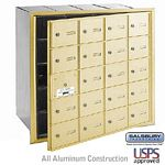 20 DOOR (19 USABLE) 4B+ HORIZONTAL MAILBOX-SANDSTONE-FRONT LOADING-A DOORS-USPS ACCESS