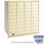 20 DOOR 4B+ HORIZONTAL MAILBOX-SANDSTONE-REAR LOADING-A DOORS-PRIVATE ACCESS