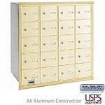 20 DOOR 4B+ HORIZONTAL MAILBOX-SANDSTONE-REAR LOADING-A DOORS-USPS ACCESS