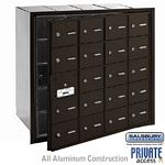 20 DOOR (19 USABLE) 4B+ HORIZONTAL MAILBOX-BRONZE-FRONT LOADING-A DOORS-PRIVATE ACCESS
