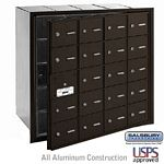 20 DOOR (19 USABLE) 4B+ HORIZONTAL MAILBOX-BRONZE-FRONT LOADING-A DOORS-USPS ACCESS