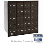 20 DOOR 4B+ HORIZONTAL MAILBOX-BRONZE-REAR LOADING-A DOORS-PRIVATE ACCESS