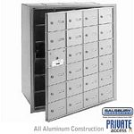 24 DOOR (23 USABLE) 4B+ HORIZONTAL MAILBOX-ALUMINUM-FRONT LOADING-A DOORS-PRIVATE ACCESS