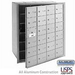 24 DOOR (23 USABLE) 4B+ HORIZONTAL MAILBOX-ALUMINUM-FRONT LOADING-A DOORS-USPS ACCESS