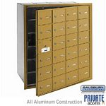 24 DOOR (23 USABLE) 4B+ HORIZONTAL MAILBOX-GOLD-FRONT LOADING-A DOORS-PRIVATE ACCESS