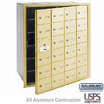 24 DOOR (23 USABLE) 4B+ HORIZONTAL MAILBOX-SANDSTONE-FRONT LOADING-A DOORS-USPS ACCESS