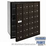 24 DOOR (23 USABLE) 4B+ HORIZONTAL MAILBOX-BRONZE-FRONT LOADING-A DOORS-PRIVATE ACCESS