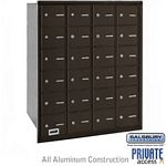 24 DOOR 4B+ HORIZONTAL MAILBOX-BRONZE-REAR LOADING-A DOORS-PRIVATE ACCESS