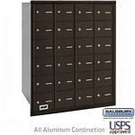 24 DOOR 4B+ HORIZONTAL MAILBOX-BRONZE-REAR LOADING-A DOORS-USPS ACCESS