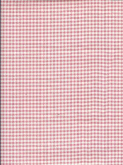 Mini Gingham Powder Pink Oil Cloth Each Yard
