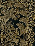 Paradise Lace Gold on Black Oil Cloth
