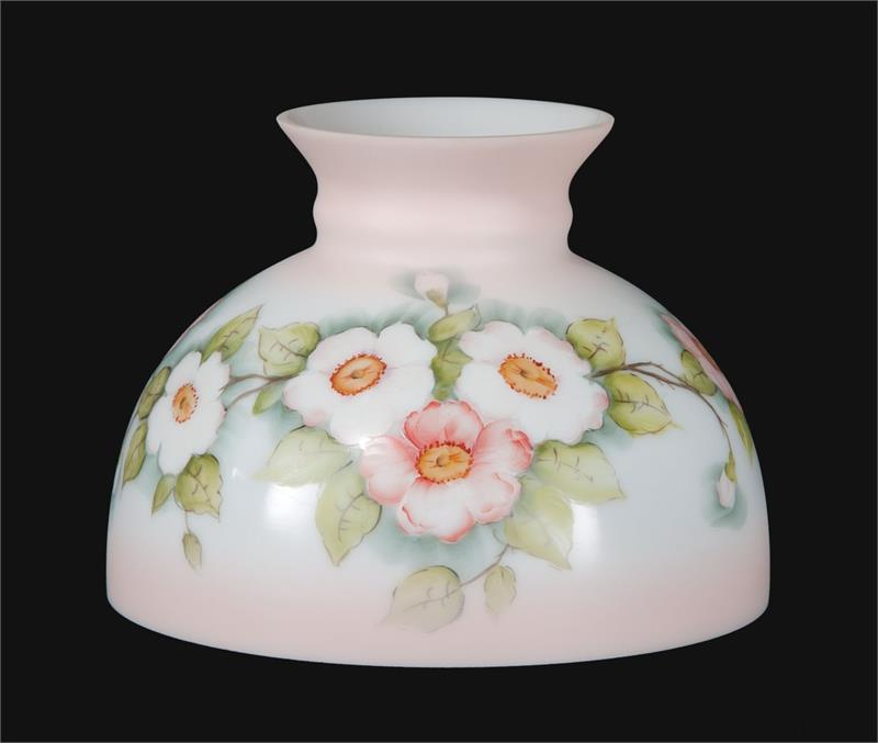10 student style glass lamp shade with hand painted apple blossoms 10 student style glass lamp shade with apple blossoms 01164 aloadofball Image collections