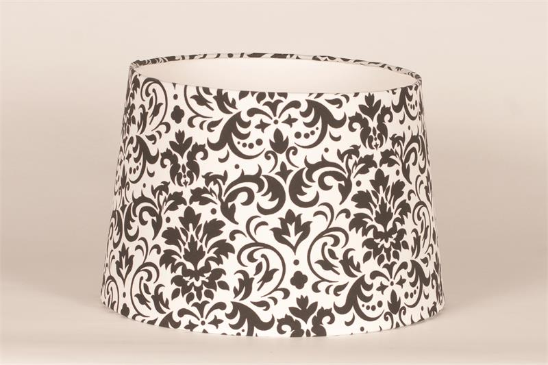 Aladdin lamps 12 black and white damask parchment lamp shade 100007302 aloadofball Image collections