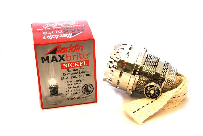 Aladdin Lamps MaxBrite 502 Nickel Heel Less Burner #N502N Or #100003889.