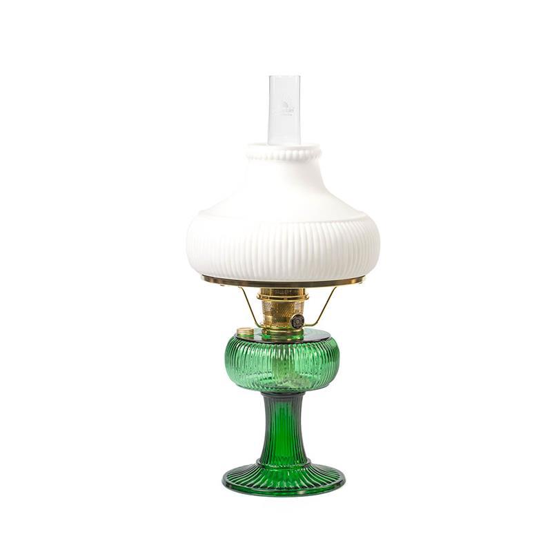 Aladdin lamps signature series emerald green grand vertique lamp aladdin emerald green grand vertique brass w opal white shade plain aloadofball Gallery