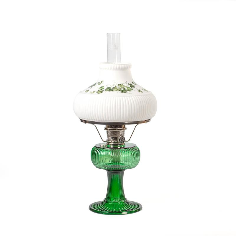Aladdin Lamps Signature Series Emerald Green Grand Vertique Lamp With Hand