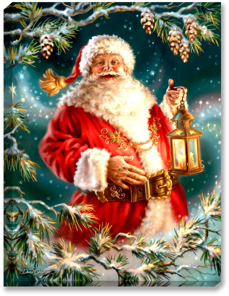Glow Décor Enchanted Santa Illuminated Wall Art #D1003 by Dona Gelsinger.  sc 1 st  Jacku0027s Country Store & Glow Décor Enchanted Santa Illuminated Wall Art #D1003 by Dona Gelsinger